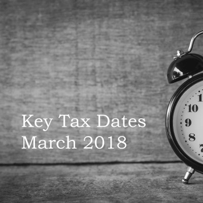 Key Tax Dates March 2018