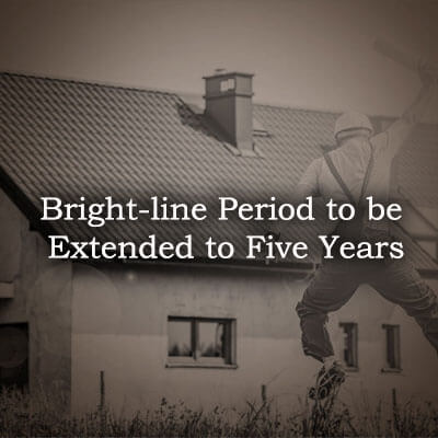 Bright-Line period to be extended to five years
